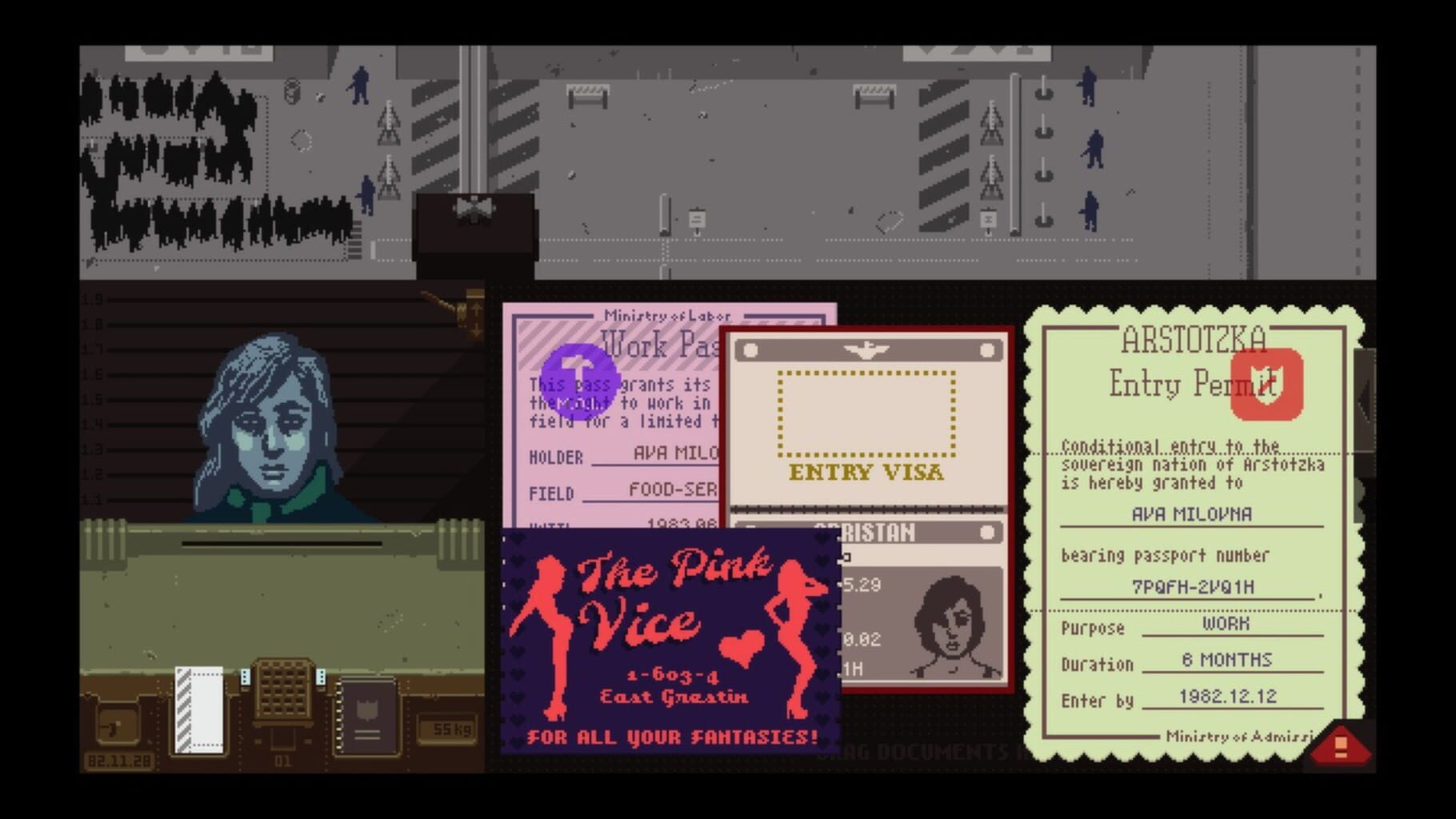 Gameplay Screenshot from Papers, Please