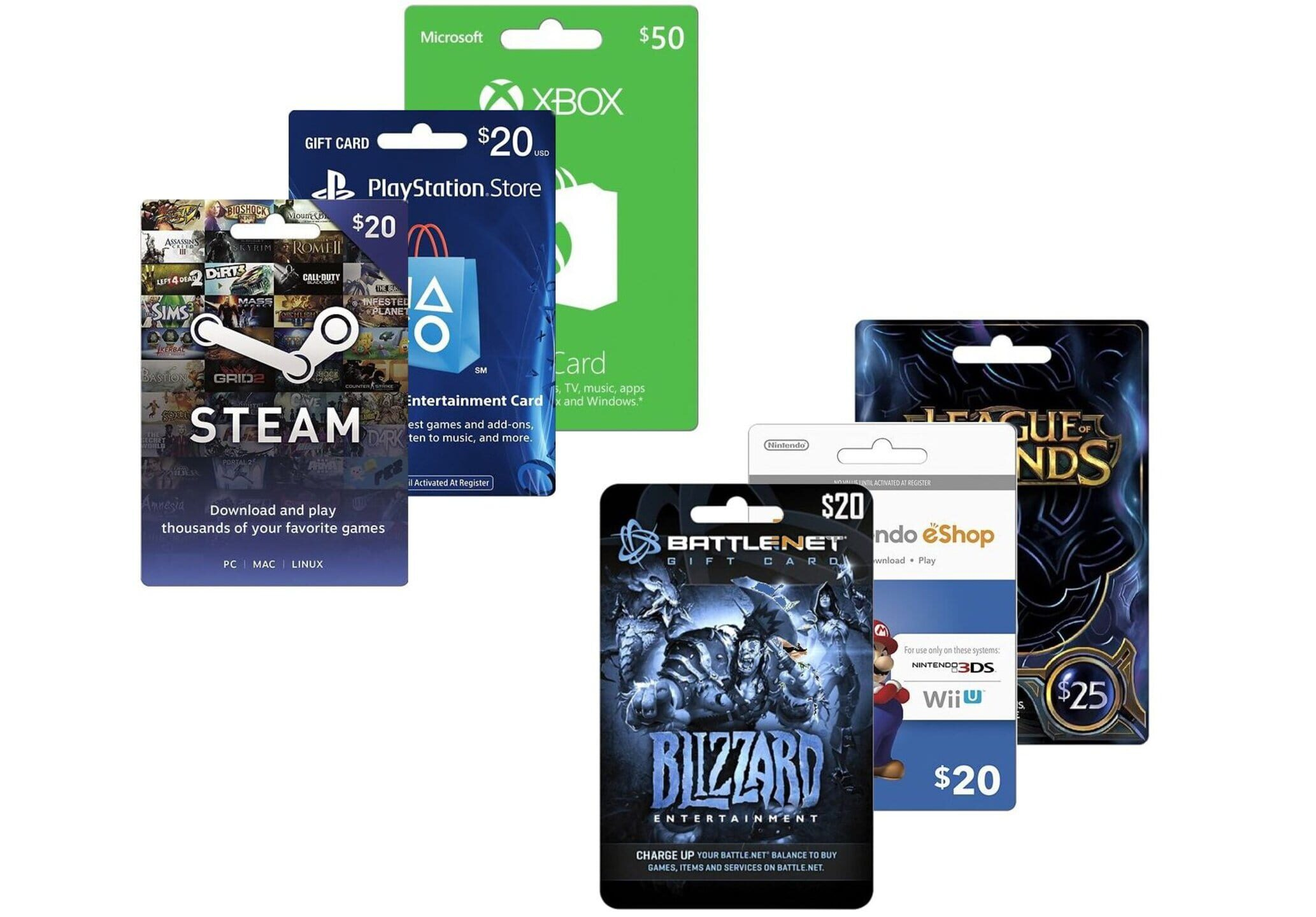 Buy a game card at Best Buy, get a second one 20% off