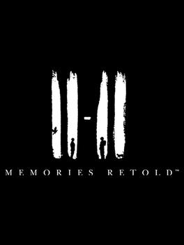 """Bilden föreställer omslaget till spelet """"11-11: Memories Retold"""". Bakgrunden är svart, och spelets namn står i vita bokstäver där siffrorna 11-11 är störst. I siffrorna kan man även se silhuetter av två personer, en katt och en fågel."""