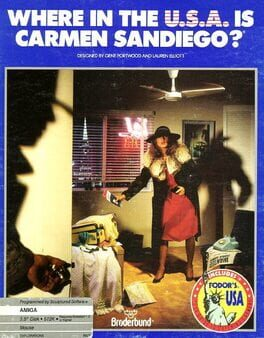 постер игры Where in the U.S.A. is Carmen Sandiego?
