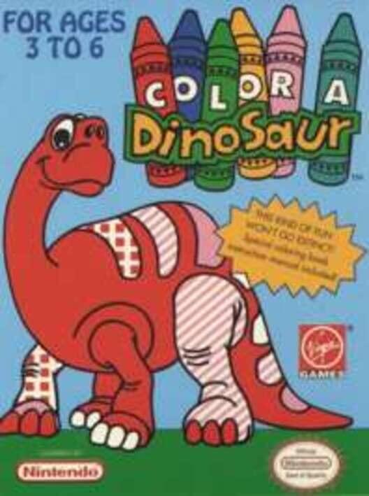 Color a Dinosaur image