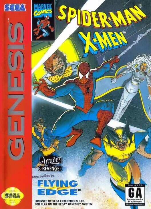 Spider-Man and the X-Men in Arcade's Revenge Display Picture