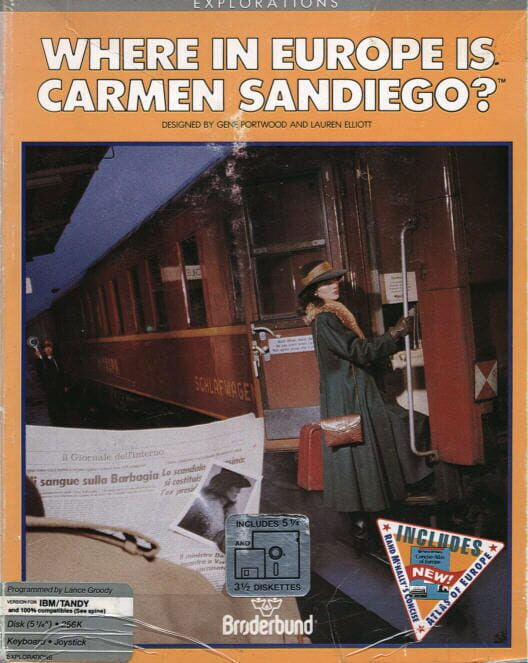 Where in Europe is Carmen Sandiego? image