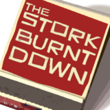 Logo of The Stork Burnt Down