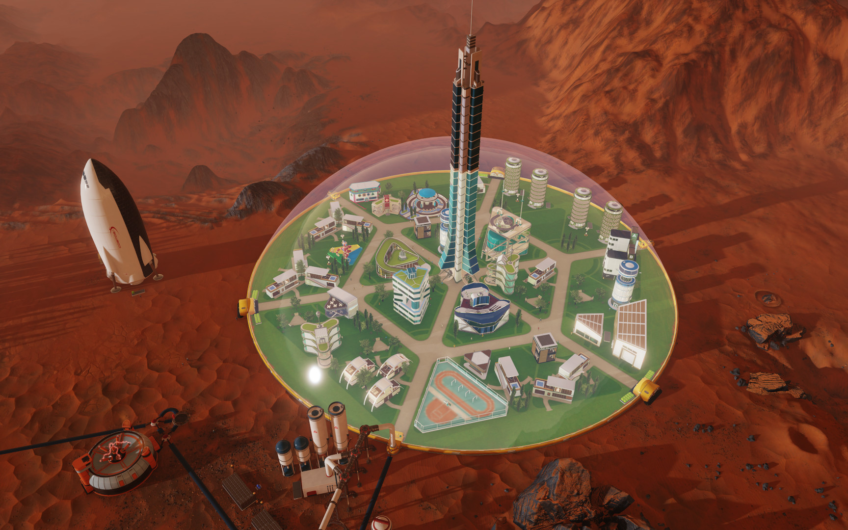 Surviving Mars - This one is froom their Press Kit, I haven't gotten this far yet