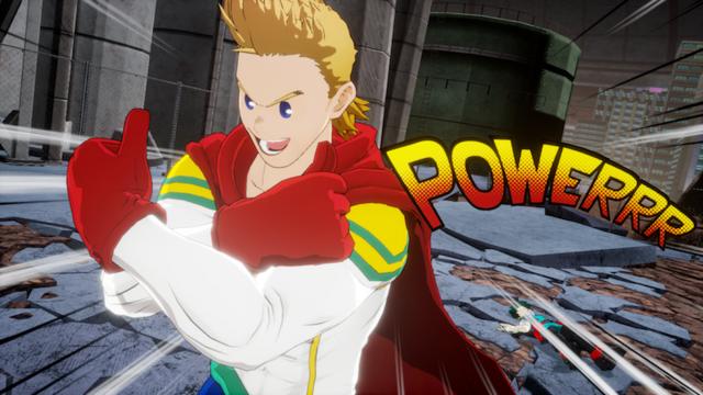 "Mirio Togata i Lemillion-kostymet som sier ""POWERRR!"""