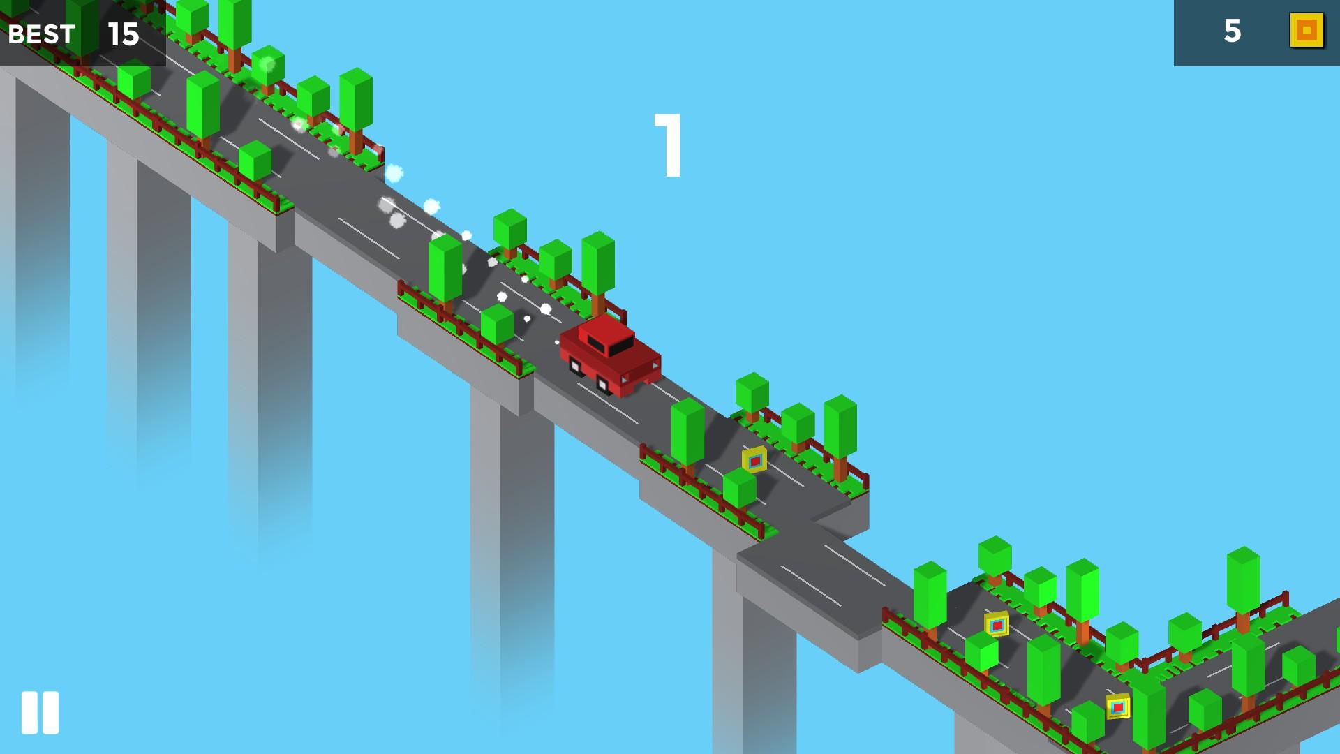 Pixel traffic: risky bridge drop