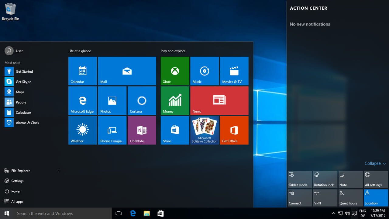 Image of Windows 10