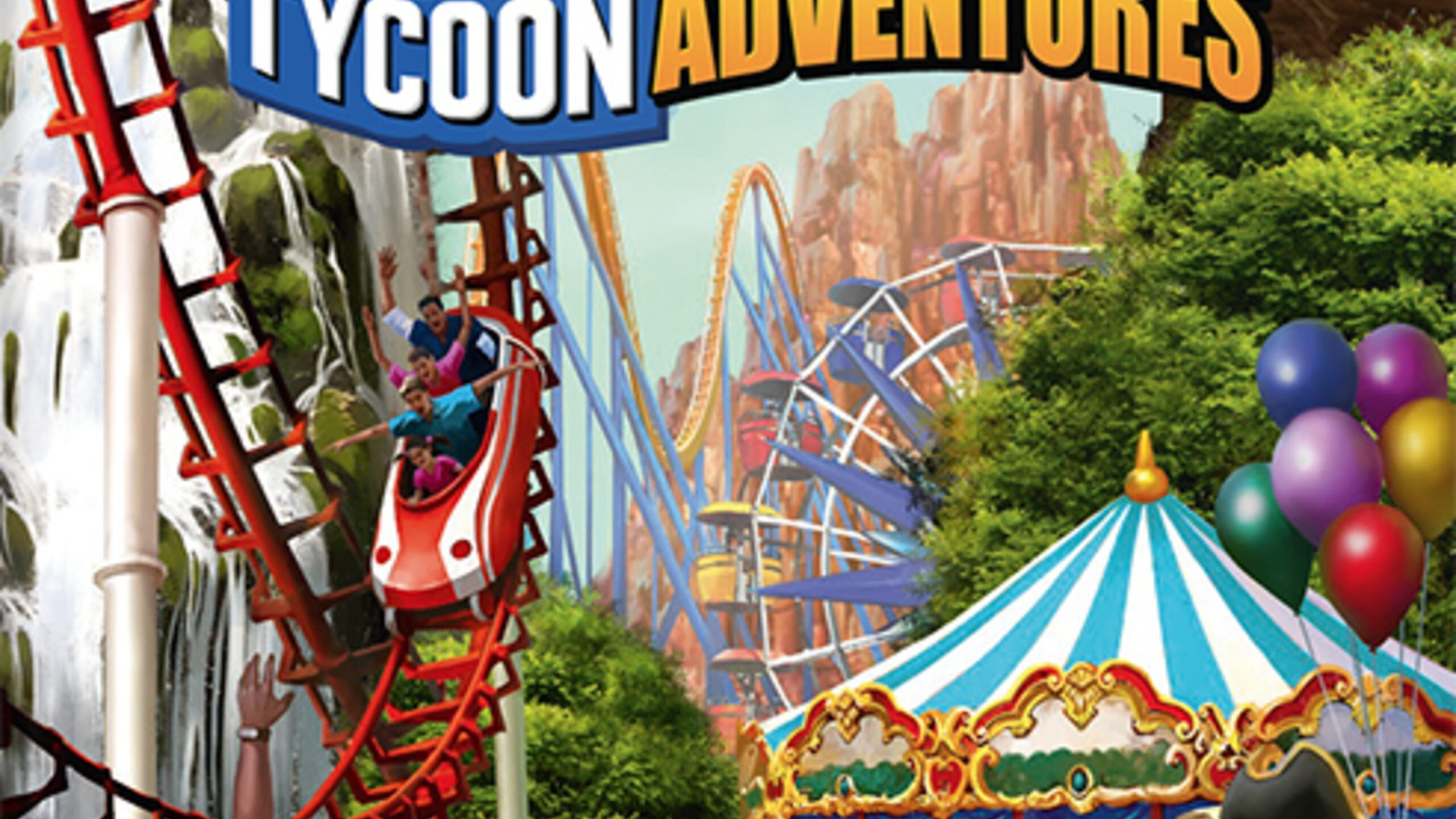 game cover art for RollerCoaster Tycoon Adventures