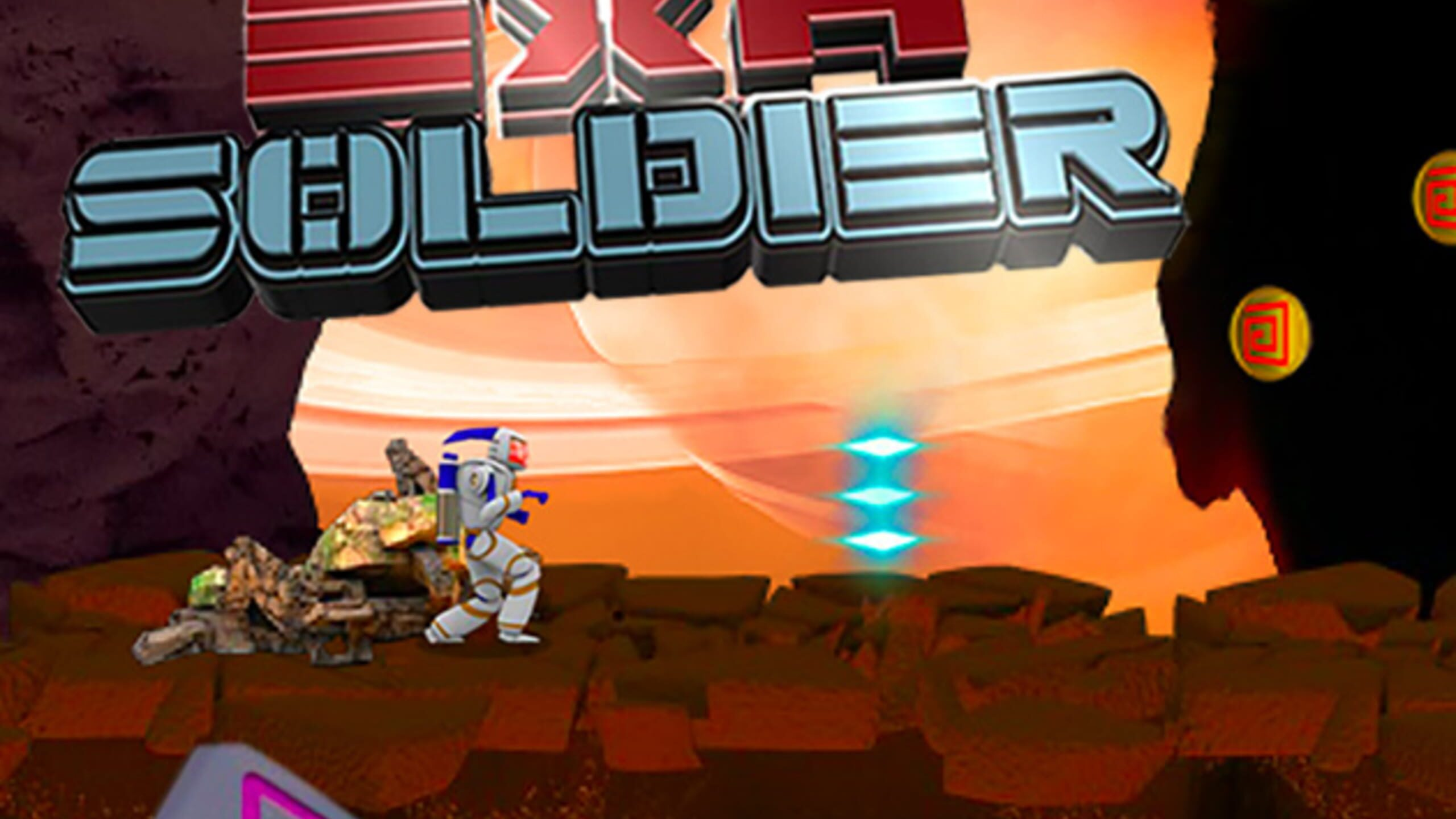 game cover art for Exa soldier Space shooter