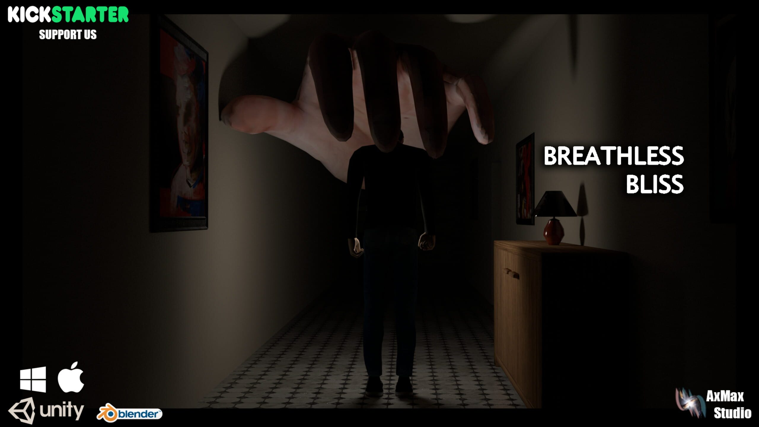game cover art for Breathless Bliss - Psychological Time Driven Horror Game
