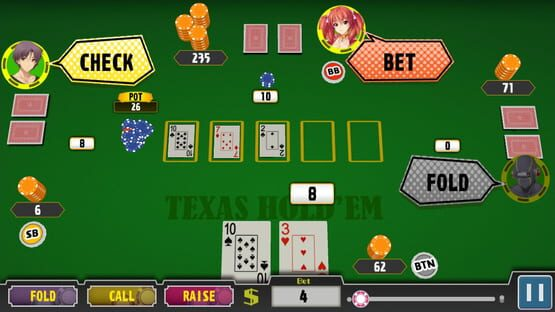Képernyőkép erről: Poker Pretty Girls Battle: Texas Hold'em