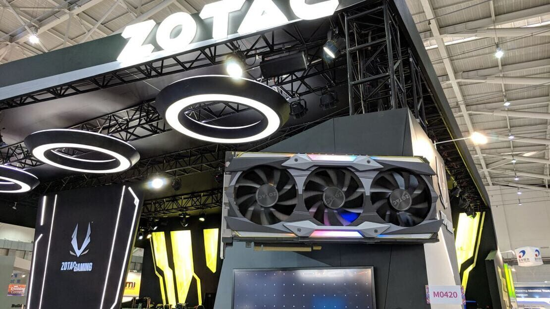 Zotac brought the biggest graphics card I've ever seen to Computex 2018